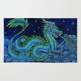 Chinese Azure Dragon Rug