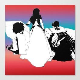 Three Ladies Canvas Print