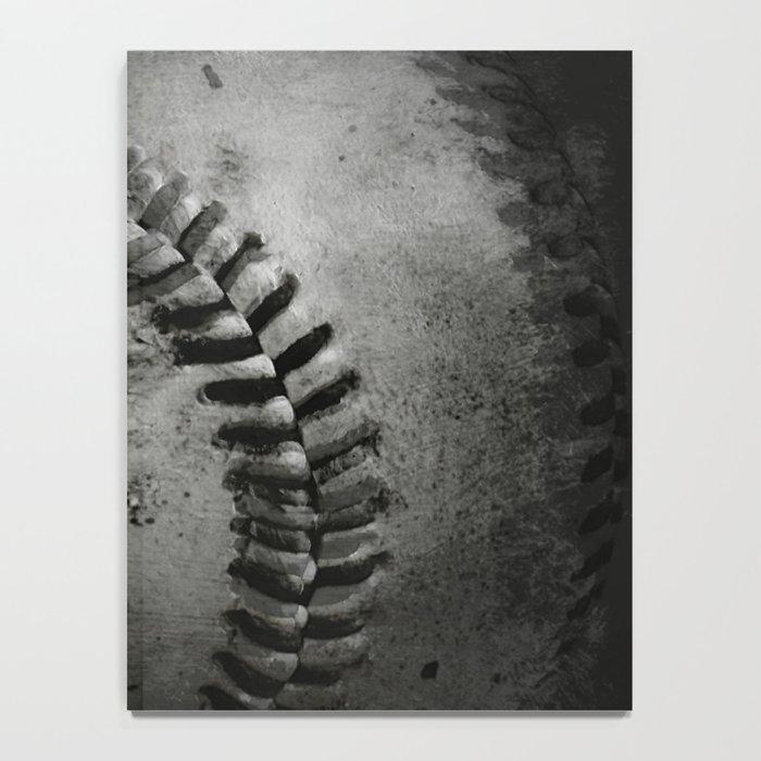 Black and white Baseball Notebook