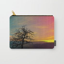 Old tree and colorful sundown panorama | landscape photography Carry-All Pouch