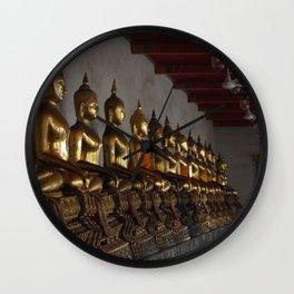 Buddha in a Row Wall Clock