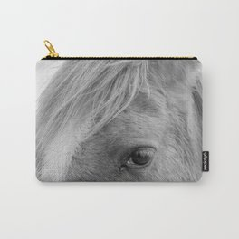 Eye Of The Horse Monochrome Carry-All Pouch
