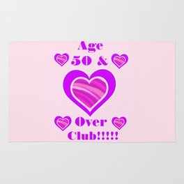 Age 50 and over club Rug