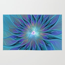 Decorative Flower Fractal Rug