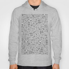 All Tech Line / Highly detailed computer circuit board pattern Hoody