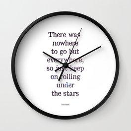 Jack Kerouac Quote Wall Clock