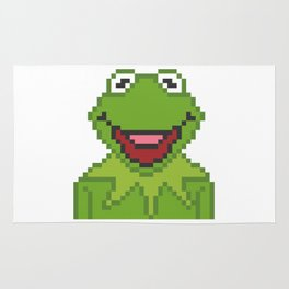 Kermit The Muppets Pixel Character Rug