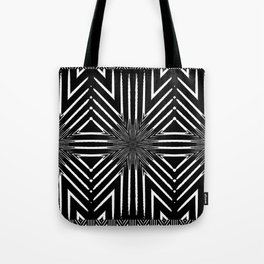Tribal Black and White African-Inspired Pattern Tote Bag