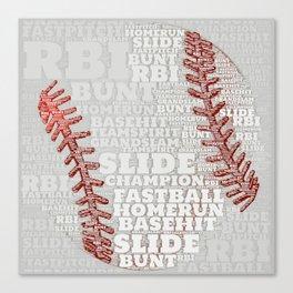 Baseball Dreams and RBIs Canvas Print