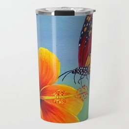 Lily with Butterfly Travel Mug