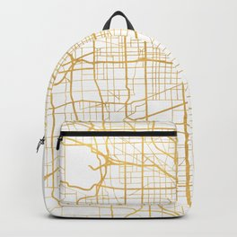 CHICAGO ILLINOIS CITY STREET MAP ART Backpack