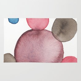 Color Sphere Circle Watercolor Rug
