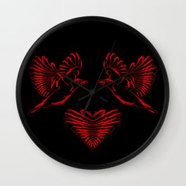Love birds for the heart and soul. Wall Clock