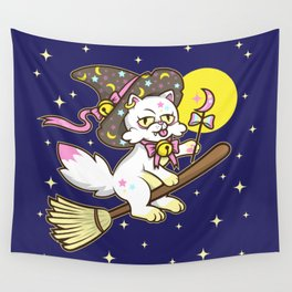 The Witch's Cat Wall Tapestry