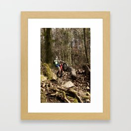 Where we're going we don't need roads Framed Art Print