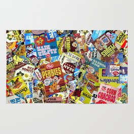 Cereal Boxes Collage Rug