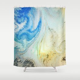 Swirling Flirtatious Abstract Happiness Shower Curtain