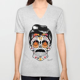 SKULL ROCK / Famous Musical Groups - Symbols - Digital Illustration Art - Pop Art - Wall Decor Unisex V-Neck