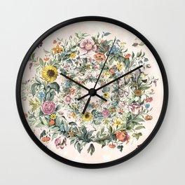 Circle of life- floral Wall Clock