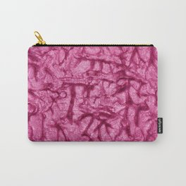 Pink Waves and Ripples Textured Wavelet Paint Art Carry-All Pouch
