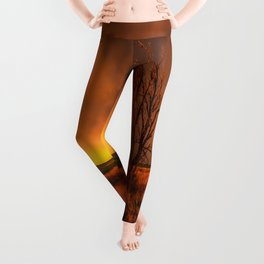 Fascinations - Warm Light and Rumbles of Thunder in Oklahoma Leggings