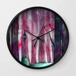The lost Woods (third version) Wall Clock