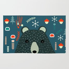 Bear Christmas decoration Rug