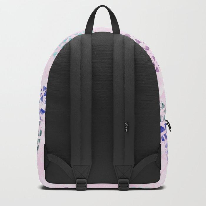 colorful geometric Backpack