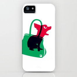 Angry animals: chihuahua - little green bag iPhone Case