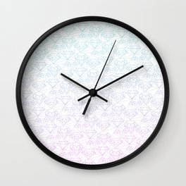 Intricate diamonds Wall Clock