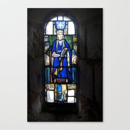 St Margaret Stained Glass Canvas Print