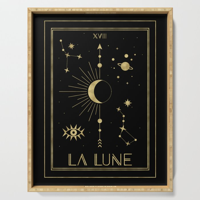The Moon or La Lune Gold Edition Serving Tray