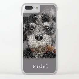 Fidel - The Havanese is the national dog of Cuba Clear iPhone Case