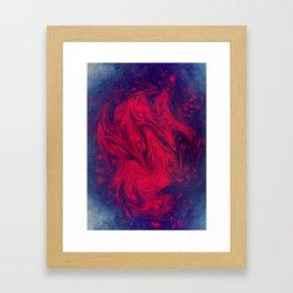 Red Presence Framed Art Print
