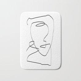 Abstract head, Minimalist Bath Mat