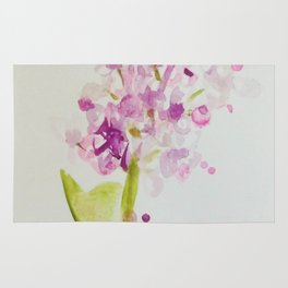 Lilac Sweet Pink Blossom watercolor by CheyAnne Sexton Rug