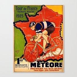 Tour De France Vintage Canvas Print