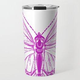 Butterfly - Violet - Beautiful - purple Travel Mug