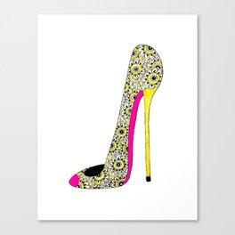 Fashion shoe art Canvas Print