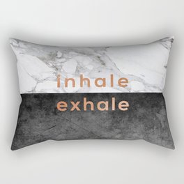Inhale Exhale Copper Rectangular Pillow