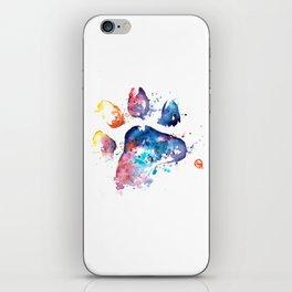 Dog Paw - Watercolor Painting - Pet Art iPhone Skin