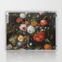 Jan Davidsz de Heem - Flower Still Life with a Bowl of Fruit and Oysters (c.1665) Laptop & iPad Skin