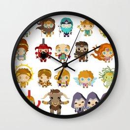 chibi kawaii gods of the greek mythology Wall Clock