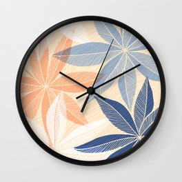 Modern Hawaiian Print II Wall Clock