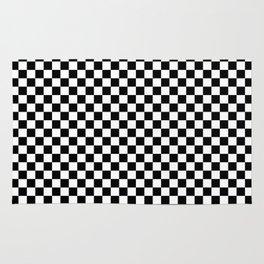 White Checkered Rugs Society6