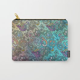 Pastel  Turquoise watercolor  OM symbol pattern Carry-All Pouch