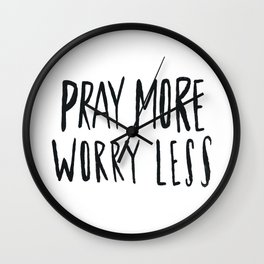 Pray More Wall Clock