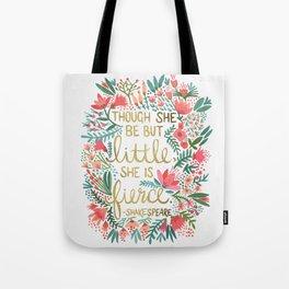 Little & Fierce Tote Bag