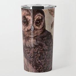 Tawny Owl Pink Travel Mug