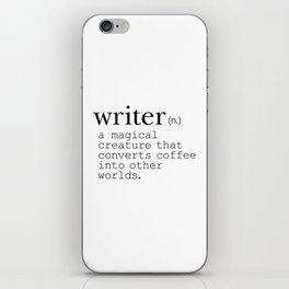 Writer Definition - Converting Coffee iPhone Skin